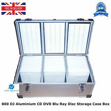 2 x 800 DJ Aluminium CD DVD Blu Ray Disc Storage Carry Case Box Numbered Sleeves