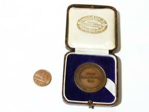 1952 Lawn Tennis Men's Cup Warwickshire EER Whitehouse Bronze Medal BOXED #LT3