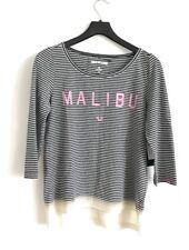 TRUE RELIGION Stripes Malibu WOMEN T-Shirt Size S