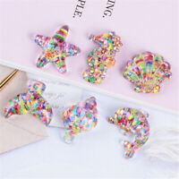 20pcs Sequins Decor Resin Flat Back Marine Life Hair Bow Making Craft Bulk 2-3cm