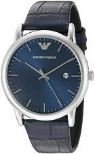 Emporio Armani AR2501 Blue Sunray Dial Dress 43mm Men's Watch