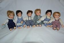 Fritz's Basket babies by Gustave Wolff-set of 6