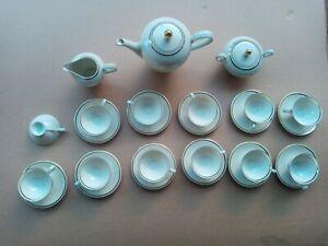 Servizio tè o caffè Vintage In Porcellana Bavaria Con Oro Zecchino