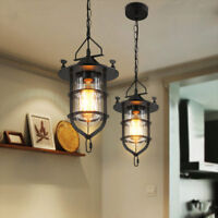 Retro Industrial Vintage Fixture Ceiling Light Iron Pendant Chandelier Light