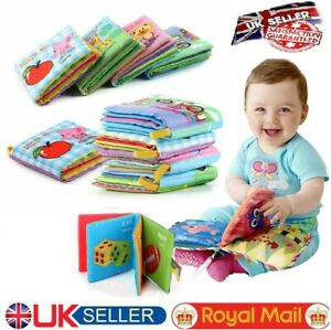 New Baby Cloth Book Early Educational Newborn Fun Crib Toys 0-36 Months Infants
