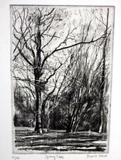 "Frank Stack Signed ""Spring Trees"" Etching (Robert Crumb contemporary)"