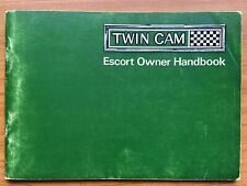 Ford Escort Mk1 TWINCAM 1968 UK Avo Sve Brochure Mexico Manual Handbook  RS 1600