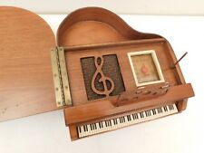 VINTAGE 40s OLD RESTORED ANTIQUE WOOD GENERAL TELEVISION GRAND PIANO TUBE RADIO
