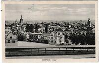 Ansichtskarte Herford Westfalen - Totalansicht mit Bahnhof - 1915 - schwarz/weiß