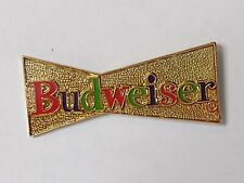 Budweiser Bud Beer Textured Gold Tone Bow Tie Lapel Pin