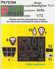 BRISTOL BEAUFIGHTER TF.X PAINTING MASK TO AIRFIX KIT #72104 1/72 PMASK