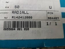 Radiall Straight 75Ω Panel Mount BNC Connector, jack R142412000 LOT of 50