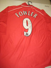 LIVERPOOL-ROBBIE FOWLER HAND SIGNED 2000-02 LIVERPOOL JERSEY+PHOTO PROOF + C.O.A