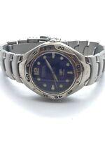 Fossil Blue Mens Stainless Steel Quartz Watch AM-3363