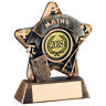 School Maths Subject Star Award with Centre Insert Budget Trophy FREE Engraving