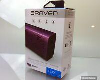 Braven BLUXPBP Lux Bluetooth IPX5 tragbare Lautsprecher mit Powerbank Box, PINK