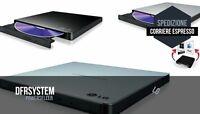 MASTERIZZATORE ESTERNO LG Ultra Slim Sata USB 2.0 Portatile SCEGLI BLACK SILVER