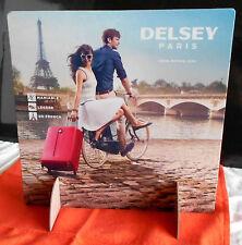 Delsey Paris, Tour Eiffel Tower Seine, Affiche display PLV 2 faces 30x30cm vélo