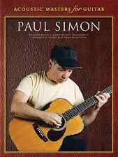 """ACOUSTIC MASTERS FOR GUITAR-PAUL SIMON"" GUITAR-TAB MUSIC BOOK ON SALE NEW!!"