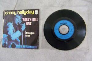 45 T JOHNNY HALLYDAY ..ROCK'N ROLL MAN ' hors commerce