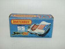 """Matchbox Superfast No 55 Hellraiser Original Empty """"J"""" Box Near Mint"""