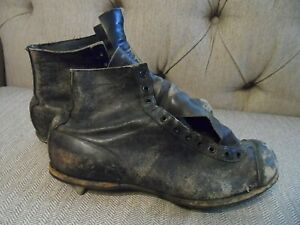 Antique Spot Bilt All Leather Football Cleats * Must See No Reserve!!