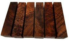 "Burled Highly Figured Walnut Pen Blanks - 1-3/8"" x 1-3/8"" x 6"" (6 Pcs)"