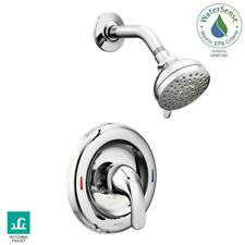 MOEN Adler 1-Handle 1-Spray Shower Faucet with Valve in Chrome (Valve Included)