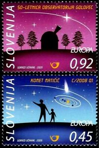 Slovenia 2009 Europa  CEPT Astronomy Space Cosmos Comet  MNH set  Unused stamps