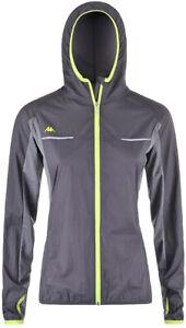 Kappa 4 Training Womens Wind Jacket Grey Water Repellent Running Outdoor