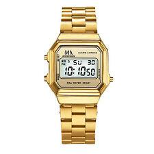 Meister Anker Armbanduhr 23cm Herren Digital Mineralglas NEU