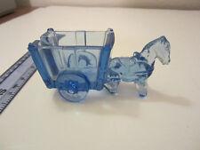 Vintage rare cobalt blue horse and wagon holder