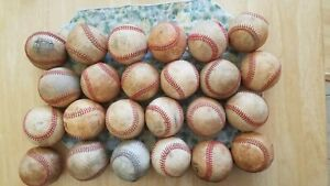 24 BASEBALL BALLS genuine LEATHER