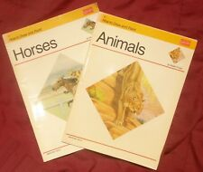 2 Walter Foster Art Instruction Books How to Draw Horses Animals Pencil Vtg 1989