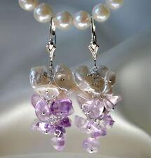Handgefertigte Ohrschmuck im Cluster-Stil mit Edelsteinen für Damen