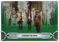 2019 Star Wars Chrome Legacy Green Refractors 100 Luke Skywalker Han Solo 08/50