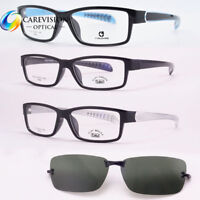 Magnetic Polarized Clip-on Driving Sunglasses Rx Ultra Light Eyeglasses Frames