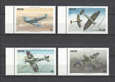 Nevis 1986 Sc#460-3  Spitfire Fighter Plane, 50th Anniv.  MNH Set