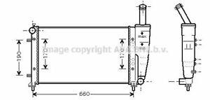 Coolant Radiator Water Engine Cooling FTA2290 for Fiat Idea Punto Grande Punto