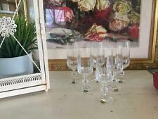 VINTAGE BOHEMIA CRYSTAL CHAMPAGNE FLUTES 180ml CARDIFF PATTERN
