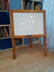 wooden children drawing white board