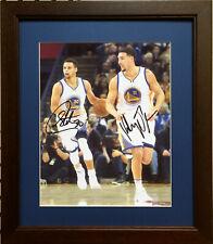 Nice Framed Stephen Curry & Klay Thompson Color Photo ( Warriors - NBA )