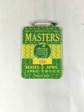 1980 Masters Tournament Augusta National Ticket Badge - Seve Ballesteros Wins