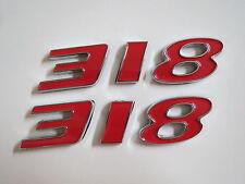DODGE PLYMOUTH 318 ENGINE ID FENDER HOOD SCOOP QUARTER TRUNK EMBLEMS - RED