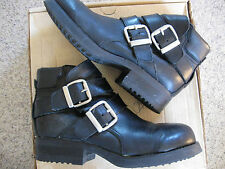Vintage Colorado Black Leather Ankle Boots Womens Size 10 Medium