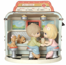You Make My Heart Float Precious Moments Figurine Diner Dogs Ice Cream NWOB