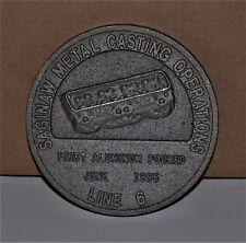 VTG 1995 Saginaw Metal Casting First Aluminum Pour June Line 6 General Motors