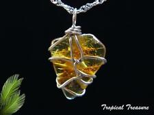 Baltic Amber & 925 SOLID Silver Pendant & chain    #205425