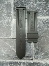 New 26mm PANERAI Rubber Strap Black Tang Band for 22mm Tongue Buckle