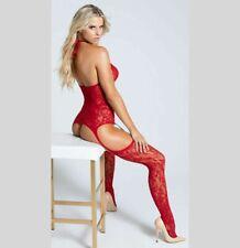 SEXY LINGERIE BODYSTOCKING OPEN KRUIS CROTCH BODYSUIT CATSUIT XS-XL